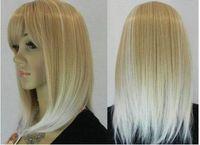 free shipping>>>Hot Sell!NEW Fashion Straight Medium Long Blonde Mix Women Wigs