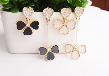 100% Gorgeous Titanium Steel Brand Clover Ethnic drop earrings for women ER312