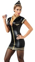 1PC Air hostess Sexy Halloween Costumes Party Costume Cosplay Dress new88691