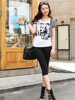 Free shipping 2013 summer new women bottoming pants Korean version was thin feet pencil pants large size candy color pant