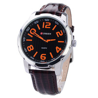 New Classic quality CURREN watches Quartz Wrist-watch Watch with PU Leather Brown or Black optonal Free shipping