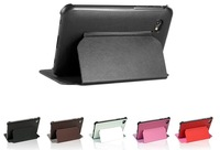 1pcs Hight Quality PU leather case for samsung galaxy tab 2 p3100 p6200 Skin Book Cover Case Free Shipping