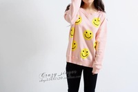 Free shipping 2013 summer Wildfox wildfox smiley-sleeved T-shirt / sweater