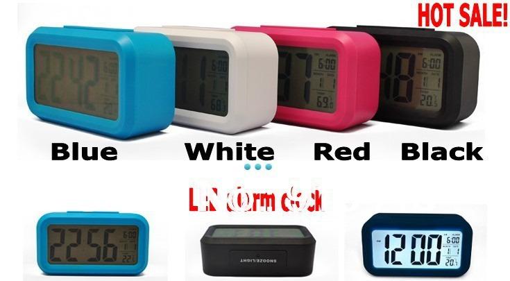 Free shipping gift Snooze Background Noctilucent Light plastic digital led alarm clock(China (Mainland))