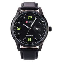 Free shipping Men's watches New Classic and fashion CURREN Quartz Wrist Watch with Calendar PU Leather Band 5 colors for chosing