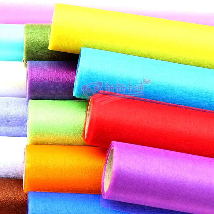 Sheer pearl yarn glass yarn cartoon bouquet packaging material silk roll packaging paper light yarn 6 meters(China (Mainland))