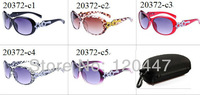 spring 2014 top selling style!!start leopart printing frame and frot shape lens sun glasses