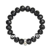 Wholesale price women gift men gift hot selling ts bracelet tsb0005 black crystal bracelet 5 PCS A LOT