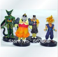 4 pcs/Lot Dragon ball z figures 34th Goku figure chidren toy Christmas gift
