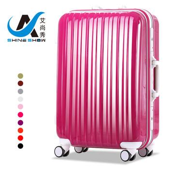 Trolley luggage abs aluminum frame travel bag luggage wheels universal female pc luggage 20 24