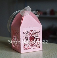 Most popular hearts design laser cut  wedding favor party decoration  wedding favors and gifts box