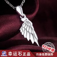Cartoon crow silver necklace 925 pure silver