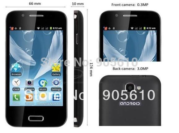 A7100(N7100) freeshipping 4.0 inch Feiteng i9300 Android 4.0 CPU Cortex A5 1GHz Samrt andorid phone Quad Band Dual Cameras(Hong Kong)