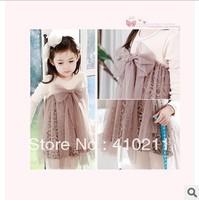 Free Shipping!2013 Summer Girls  One-Piece Dress,Girl skirt,5pcs/lot,brown/pink.