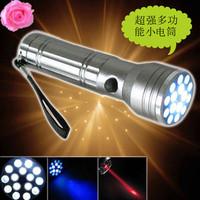 Led white light violet lamp infrared laser violet money detector multifunctional flashlight infrared small flashlight