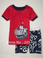 Free shipping 2013 cotton babys sleepwear cool boys sea rover Pyjamas children's clothing sets infant underwear kids clothes