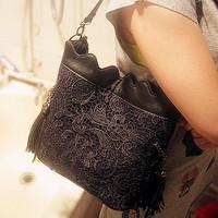 All-match lace bag small fresh the trend of fashion female bags crochet handbag shoulder bag messenger bag