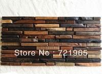 Natural wood mosaic tile rustic wood wall tiles NWMT009 kitchen backsplash wood panel wood pattern tiles mosaic