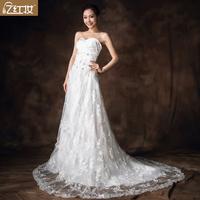 The bride wedding dress 2013 new arrival sexy tube top short trailing wedding dress slim fish tail white wedding dress