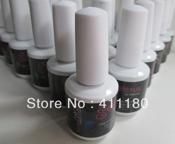 Soak off one step 3 in 1 uv/led nail gel polish 12pcs/lot Free shipping