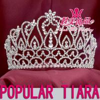 Wholesale retail rhinestone crown tiara for bridal wedding queen princess headdress NO-2279