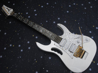 EMS Free Shipping Hot Selling Classical JEM 7V Steve Vai White Electric Guitar Golden Hardware In Stock