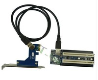 PCI-express x1 PCIe TO 2 PCI Adapter Router Dual PCI slot Riser Card Get Tow PCI