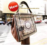 2013 brand designer Vintage print women's handbag messenger bag color block bags  and fashion shoulder bag
