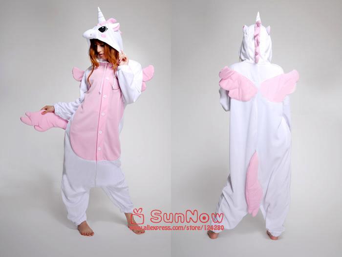 NEW Unisex Adult Japan casual Animal Sleepsuit Pajamas Anime Cosplay Costume Unicorn Party Dress Christmas Onesie S M L XL(China (Mainland))