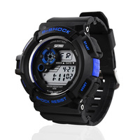 freeshipping 30pcs/lot skmei sports dive watch,50m/5ATM deep water proof/resistant for swimming, time/date/alam/back light