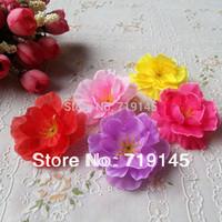 200pcs 4.5cm wholesale real touch Artificial silk peach blossom plum blossom  cherry blossom diy flower dance props clothes