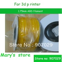High Quality 1.75mm ABS Filament Spool 1kg 3D Printer MakerBot---Free shipping yellow one