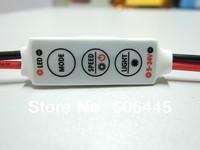 Free Shipping 5V 9V 12V 24V Manual Single Color LED Strip Mini LED Controller Flash Flashing  Strobe Effects
