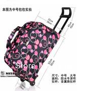 2013men luggage & travel bags metal trolley luggage bag travel male women's semiportable luggage bag male Women