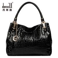 Women's handbag 2013 cowhide vintage crocodile pattern fashion handbag fashion one shoulder women's bags