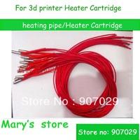 free shipping (10pcs/lot) Heater Cartridge for 3D printer reprap exturder heat pipe for 3d printer nozzles 6 * 20 12V 24V/30W