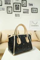 Free/drop shipping! Color 2013 fashion vintage carved women's handbag color block cutout bag gold big bags  and shoulder bags