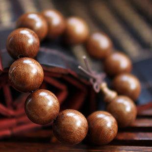 Wholesale Natural Wooden Men Bracelets Gold Ebony Large Beads 20mm Chunky High Quality Gift Buddha Shambhala Jewelery