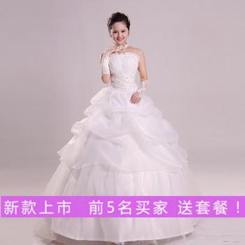 Diamond princess bride wedding dress formal dress married 2013 tube top sweet wedding dress