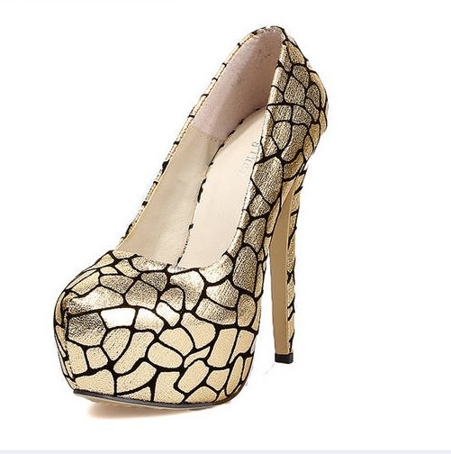 The new 2013 stone grain nightclub essential high-heeled shoes(China (Mainland))