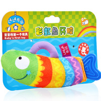 Free shipping Lalababy book teethers rattles, baby toy baby plush doll