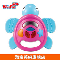 Free Shipping Toy turtle teethers rattles, 0-1 year old baby child baby silica gel 0606 music