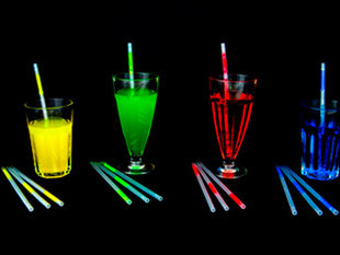 wholesale party supplies reusable plastic drinking straws glow in the dark product Led Straw free shipping(China (Mainland))