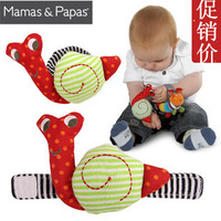 Free Shipping Mamas & papas snail watch band baby hand rattles bell baby toy baby puzzle