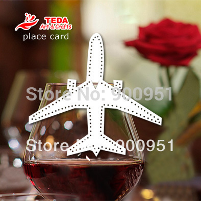 Airplane Place Cards for wedding decoration(China (Mainland))