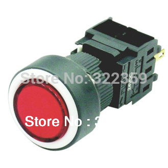 16mm 5A/250V SPDT latching led illuminated push button switch(China (Mainland))