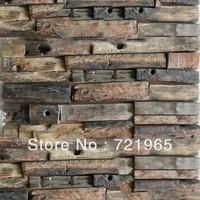 Natural wood mosaic tile rustic wood wall tiles NWMT014 kitchen backsplash wood panel 3D wood pattern tiles mosaics