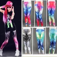 Best Selling!New Fashion Sexy Women Starry Sky Lightning Printed Leggings Pants Free Shipping 1pcs/lot