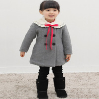 Baby friendly children's clothing child wool coat female child wool double breasted wool coat children outerwear