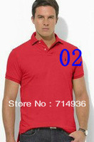 2013 High quality bramd Men's Short Sleeve T Shirt slim fit man Polo shirt cotton free drop shipping Small mens shirt PM-2